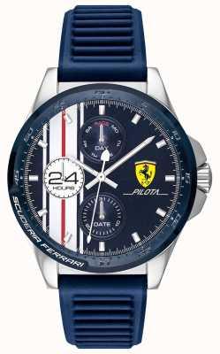 Scuderia Ferrari | pilota maschile | cinturino in caucciù blu | quadrante cronografo blu | 0830660