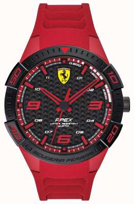Scuderia Ferrari | apice maschile | cinturino in caucciù rosso | quadrante nero / rosso | 0830664