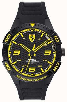 Scuderia Ferrari | apice maschile | cinturino in caucciù nero | quadrante nero / giallo | 0830663