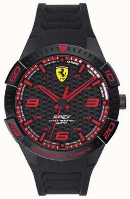 Scuderia Ferrari | apice maschile | cinturino in caucciù nero | quadrante nero / rosso | 0830662