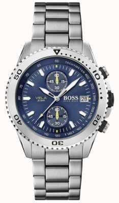 Boss | vela | cronografo | bracciale in acciaio | quadrante blu | 1513775