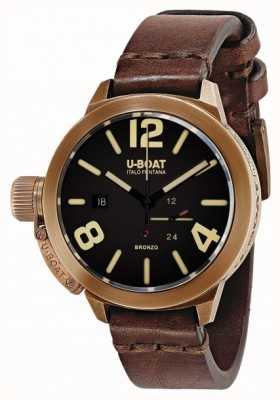 U-Boat Classico 50 bronzo un cinturino marrone 8104