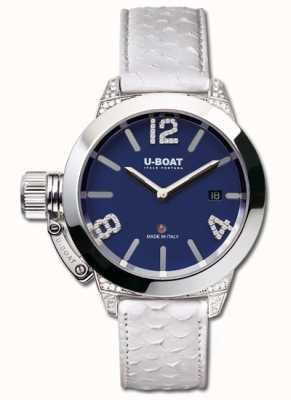 U-Boat Diamanti bianco blu classico 40 ss 7077