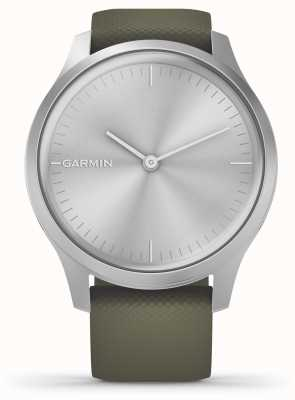 Garmin Stile Vivomove | custodia in alluminio argento | cinturino in silicone muschio 010-02240-01