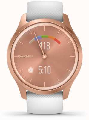 Garmin Stile Vivomove | cassa in alluminio oro rosa | cinturino bianco 010-02240-00