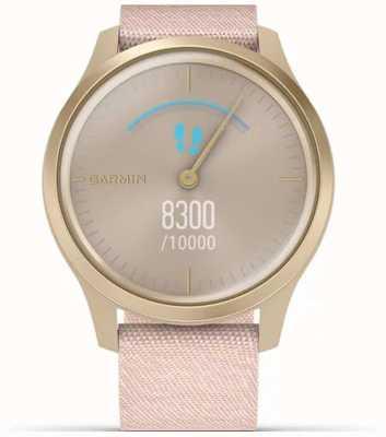 Garmin Stile Vivomove | custodia in alluminio oro chiaro | cinturino rosa 010-02240-02