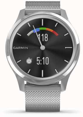 Garmin Vivomove luxe | cassa in acciaio inossidabile cinturino milanese d'argento 010-02241-03