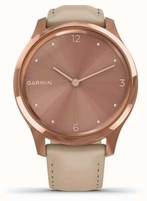 Garmin Vivomove luxe | Custodia in pvd oro rosa 18 carati | pelle italiana 010-02241-01
