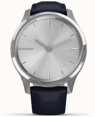 Garmin Vivomove luxe | cassa in acciaio inossidabile pelle italiana blu 010-02241-00