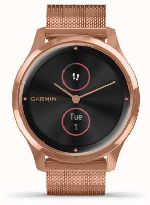 Garmin Vivomove luxe | Custodia in pvd 18 carati | cinturino milanese in oro rosa 010-02241-04