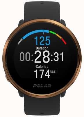 Polar | accendere | orologio fitness nero e rame | m / l | gomma nera 90079362