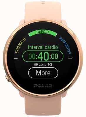 Polar | accendere | orologio fitness rosa e rosa | piccolo | gomma rosa 90079898