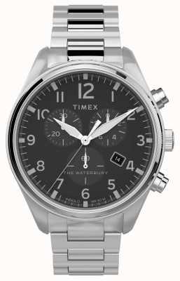 Timex | waterbury chrono tradizionale 42mm | acciaio inossidabile TW2T70300