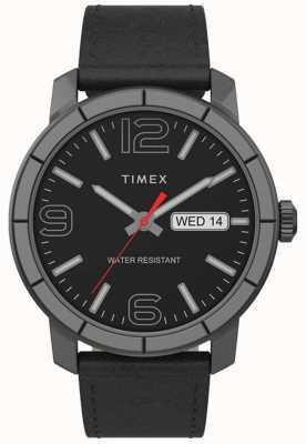 Timex | mod uomo 44mm | cinturino in pelle nera | quadrante nero | TW2T72600
