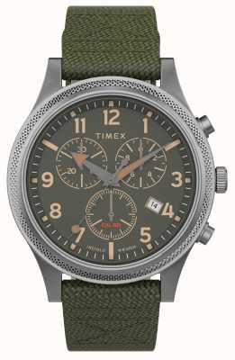 Timex | allied lt chrono 40mm | cinturino in tessuto verde | quadrante verde | TW2T75800
