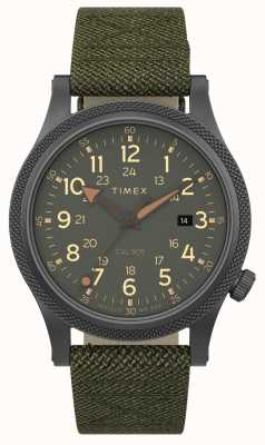 Timex | alleato lt 40mm | custodia grigia | cinturino in tessuto verde | TW2T76000