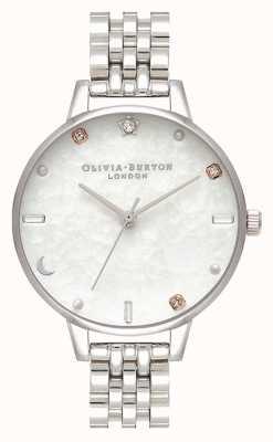 Olivia Burton | braccialetto celeste stella e luna in argento | madreperla OB16GD30