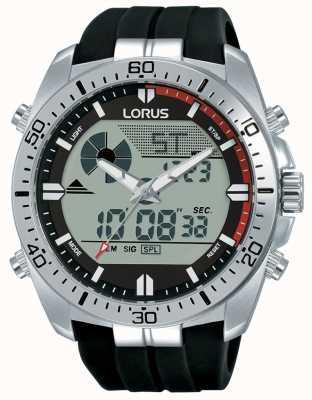 Lorus | duo maschile | cinturino in caucciù nero | R2B07AX9