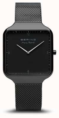 Bering | max rené | cinturino in maglia di acciaio nero quadrante nero 15836-123