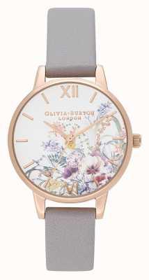 Olivia Burton | donne | giardino incantato | cinturino in pelle lilla grigia | OB16EG150