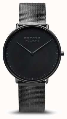 Bering | max rené | nero opaco da uomo | bracciale in acciaio nero | 15738-123