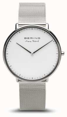 Bering | max rené | argento lucido da uomo | braccialetto a maglie d'argento | 15738-004