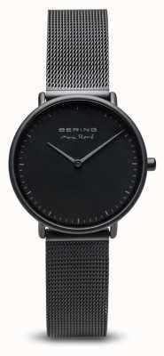 Bering | max rené | nero opaco da donna | cinturino in maglia di acciaio nero 15730-123