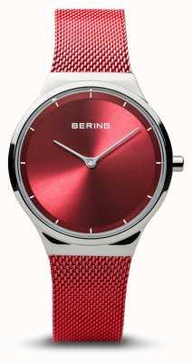 Bering | classico | argento lucido da donna | braccialetto a maglie rosse | 12131-303