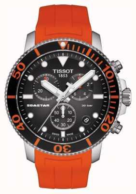 Tissot | cronografo seastar 1000 | cinturino arancione | 300m T1204171705101