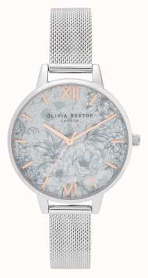 Olivia Burton | donne | terrazzo floreale | braccialetto a maglie d'argento | OB16TZ06