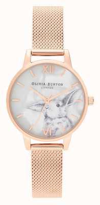Olivia Burton | donne | animali illustrati | coniglietto | maglia in oro rosa | OB16WL85