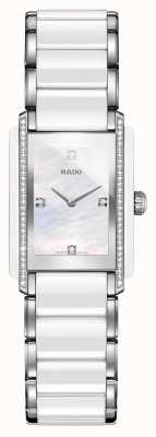 Rado Orologio con quadrante quadrato in ceramica high-tech con diamanti integrati R20215902