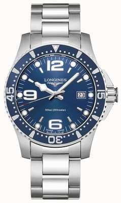 Longines | idroconquista | Cassa da 41 mm quadrante blu | quarzo svizzero L37404966