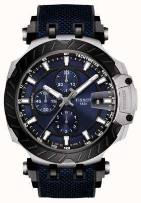 Tissot | T-Race | cronografo automatico | cinturino in caucciù blu | T1154272704100