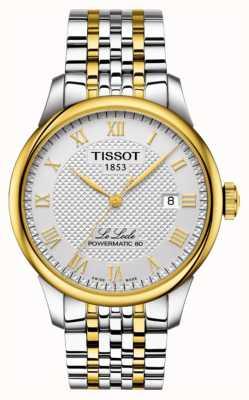 Tissot | le locle powermatic 80 | bracciale in acciaio bicolore T0064072203301