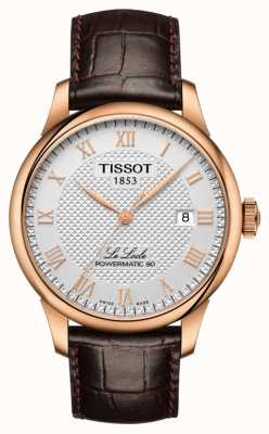 Tissot | le locle | powermatic 80 | cinturino in pelle marrone | T0064073603300
