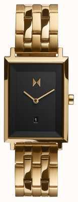 MVMT Piazza della firma | braccialetto placcato oro | quadrante nero | D-MF03-GGR