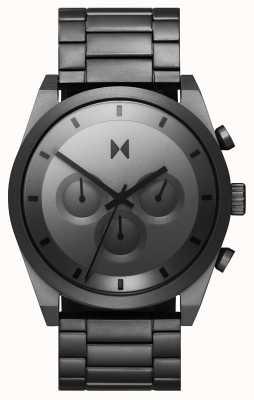 MVMT Crono elemento | bracciale in acciaio grigio | quadrante grigio 28000048-D