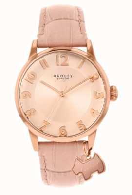 Radley Liverpool street | cinturino in pelle rosa | quadrante rosa | RY2872