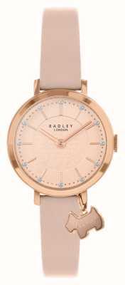 Radley Via Selby | cinturino in pelle rosa | quadrante oro rosa / rosa | RY2864