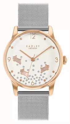 Radley Glitter per cani Ditsy | braccialetto a maglie d'argento | quadrante argentato | RY4405