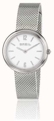 Breil Bracciale a maglie in acciaio inossidabile con quadrante bianco iris TW1776