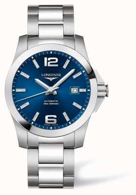 Longines Uomo | conquista sportiva | quadrante blu | acciaio inossidabile L37774996