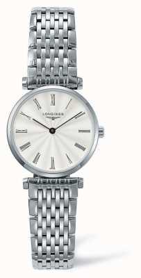 Longines Elegante cinturino argento classico | faccia bianca | L42094716