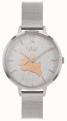 Radley Passeggiata d'angelo | braccialetto a maglie d'argento | quadrante glitter | RY4403