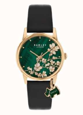 Radley Floreale Botanico | cinturino in pelle blu scuro | quadrante floreale verde | RY2882