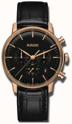 Rado Quadrante nero cronografo al quarzo Coupole classico R22911165