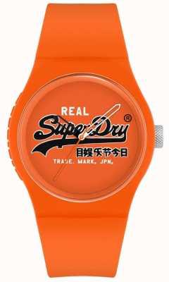 Superdry Originale urbano | cinturino in silicone arancione | quadrante stampa arancione | SYG280OB