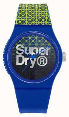 Superdry Geo sport urbano | cinturino in silicone blu / verde | quadrante blu / verde SYG268UN
