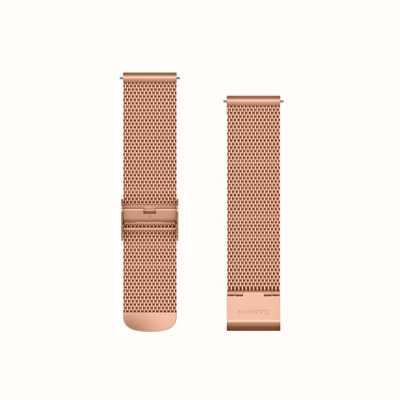 Garmin Cinturino a sgancio rapido, cinturino milanese in oro rosa con rosa 18 carati 010-12924-24